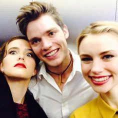 Zoey Deutch, Dominic Sherwood and Lucy Fry