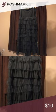Black tule skirt/dress Worn once cute black tule skirt/dress can be worn either way a strapless black dress or as a long tule skirt Skirts A-Line or Full