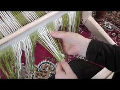 Simple Warping on the Rigid Heddle Loom (with less back ground music) - YouTube