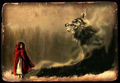 Little Red Riding Hood Little Red Hood, Little Red Ridding Hood, Red Riding Hood Wolf, Howl At The Moon, Fairytale Fantasies, She Wolf, Big Bad Wolf, Werewolf, Magick