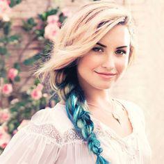 Demi Lovato's Partially Blue Braid