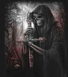 Sword monk skull skeleton