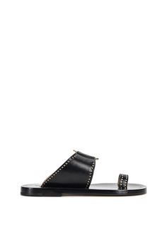 ISABEL MARANT JEPPY OPEN TOE FLAT SANDALS. #isabelmarant #shoes #