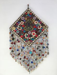 hippie room decor 475059460685584409 - Turcoman Beaded Silver Kutchi Pendant Nazarlyk Wall Hanging Source by Ramadan Crafts, Ramadan Decorations, Foam Crafts, Diy And Crafts, Arts And Crafts, Art Textile, Paint Colors For Living Room, Fabric Jewelry, Altar
