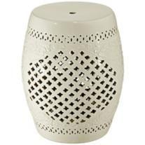Eggshell Lattice Ceramic Accent