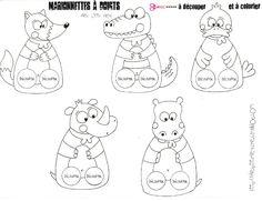 marionnettes à doigts animaux à colorier