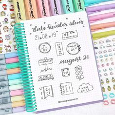 50 Header Ideas by Month for Your Bullet Journal Bullet Journal Headers And Banners, Bullet Journal Titles, Bullet Journal Banner, Bullet Journal Printables, Bullet Journal Notebook, Bullet Journal Aesthetic, Bullet Journal Inspiration, Bullet Journal Markers, Tittle Ideas