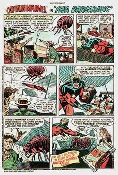 Captain Marvel - Hostess 1970's Comic Strip Tribute Superheroes Selling Twinkies…