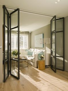 Wickes Folding Interior Door - Within a building or a home, interior doors are accustomed to separate one room from another Partition Door, Room Divider Doors, Glass Room Divider, Room Dividers, Patio Doors, Balcony Door, Entrance Doors, House Rooms, Living Rooms