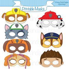 Paws+Printable+Character+Party+Masks+door+HungryPandaSupplies