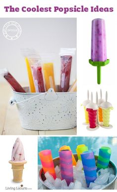 The Coolest Popsicle Ideas! Best popsicle molds for kids and a great way to sneak healthy food into your kids diet. - Popsicle Molds - Ideas of Popsicle Molds Summer Snacks, Summer Treats, Summer Recipes, Popsicle Molds, Popsicle Recipes, Frozen Desserts, Frozen Treats, Toddler Meals, Kids Meals