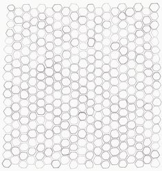 Honeycomb pattern sketch by Bailey Doesn't Bark.