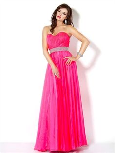 Strapless A-line Sweetheart Drape Fuchsia with Embellished Trim Prom Dress PD0692 www.simpledresses.co.uk £107.0000