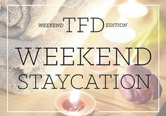 The 10 Essentials Of A Perfect Weekend Staycation http://thefinancialdiet.com/the-10-essentials-of-a-perfect-weekend-staycation?utm_content=bufferf6a2a&utm_medium=social&utm_source=pinterest.com&utm_campaign=buffer?utm_content=bufferf6a2a&utm_medium=social&utm_source=pinterest.com&utm_campaign=buffer via Chelsea Fagan
