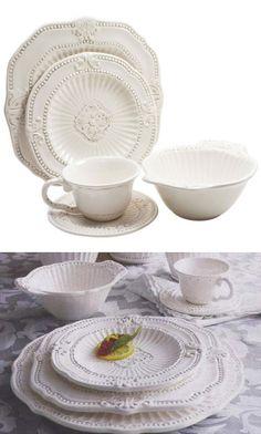 American Atelier 20-Piece Baroque Dinnerware Set  $74.99 (+14.72 S/  sc 1 st  Pinterest & 12-Piece