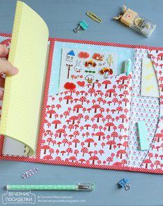 Пенал и обложка / Pencil case and notebook cover - Вечерние посиделки