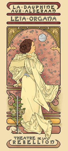 Project: Star Wars Illustration -- What Alphonse Mucha would have painted had he lived in a galaxy far, far away...... | Foalio