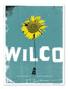 Wilco VermontShow poster for a Wilco performance in Vermont.