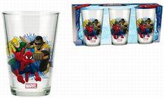 BRUMLA.CZ – Značkový dětský a dospělý second hand a outlet, použité oděvy pro děti a dospělé - Nové - 3x sklenička se Spider-manem zn. Marvel