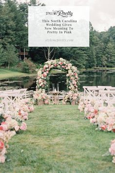 """Welcome to the wedding of your dreams! This North Carolina celebration gives new meaning to """"pretty in pink."""" 