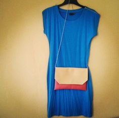 Colorblock envelope clutch, vegan clutch, yellow and orange, crossbody bag - pinned by pin4etsy.com