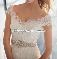 Luxury Lace wedding dress mermaid lace by Elenafashionstudio, $279.00