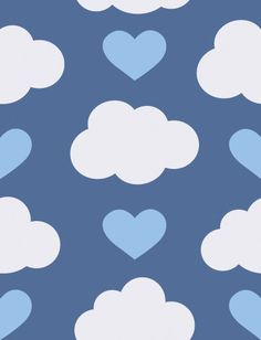 Loveclouds Designer Wallpaper by Aimée Wilder   Measurements: 27 inches wide × 5 yards long Design Repeat: 35.5 inches Design Match: Straight Main Element Size: