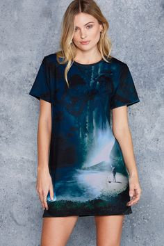 Expecto Patronum Tee Dress ($90AUD) by BlackMilk Clothing