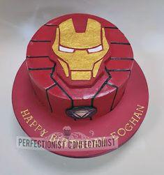 Eoghan – Iron Man Birthday Cake / The Perfectionist Confectionist - Torte idea 2019 Marvel Birthday Cake, Birthday Cakes For Men, Cupcakes, Cupcake Cakes, Ironman Cake, Mini Cake Pans, Iron Man Birthday, Disney Cakes, Diy Cake