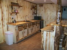 Custom Rustic Wood Basements