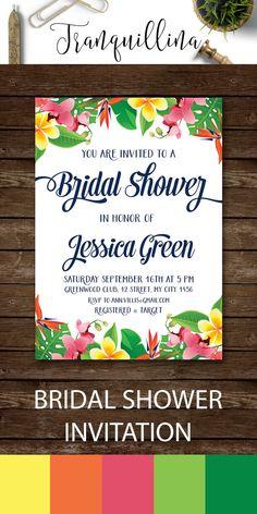 b741756e17706 Tropical Bridal Shower Invitation Printable