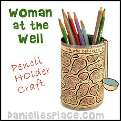 Bible Craft for Children's Sunday School - Well Craft for The Woman at the Well Bible Lesson from www.daniellesplace.com