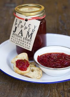 Spicy Pepper Jam from Jimtown Store (Healdsburg, CA) - try it on a peanut butter and bacon sandwich!