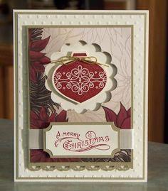 Set of 4 Cards - Handmade Stampin Up CONTEMPO CHRISTMAS. $16.50, via Etsy.