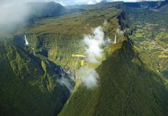 Pitons, cirques and remparts of Reunion Island. It is located in the south-west of the Indian Ocean. France.