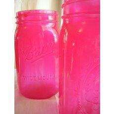 Lovely pink mason jars