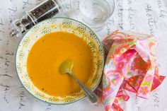 Make this carrot ginger soup to show yourself love. You didn't reach your goal by being perfect. You reached your goal because you didn't let your imperfections stop you from reaching your goal.