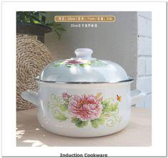 Enamel Soup Pot Flat Cooker 2 Thick Pot With Lid Cooking Pot Cookware Induction Pot Pot Of Soup Kitchen Pots And Induction Cookware, Soup Kitchen, Cooker, Pots, Enamel, Flat, Amazon, Link
