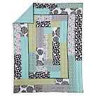 Love this pattern...maybe in pinks, blues, greens, purple & browns.  Graphic Patch Quilt, Full/Queen, Black Multi