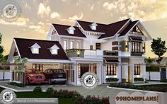 Kerala Style Traditional House Plans with Sloping Roof Model Collections Best Small House Designs, Latest House Designs, Simple House Design, Modern House Design, Traditional Style Homes, Traditional House Plans, Contemporary House Plans, Modern House Plans, 1500 Sq Ft House