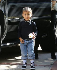 She's got style smarts! North West wore an edgy choker as she joined Kourtney Kardashian and Penelope Disick in Beverly Hills on Sunday