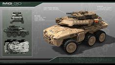 ArtStation - Scifi APC MG-30, Stephane Chasseloup
