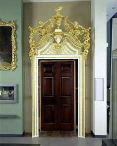 Doorway by Cuenot for the Great Drawing Room at Norfolk House,   c.1756.