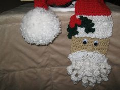 Crochet Christmas Holiday Santa Scarf (Red and White) Santa Face with Holly Accent and Large White Pom Pom    Size: Approximately 80 Long   5 Wide    This adorable scarf is hand crocheted with acrylic yarn. The hat features a Santa face on one side and the scarf is his hat with a large white pom pom on the other side. This unique scarf is a great addition to your wardrobe and will definitely be a head turner! Hat sold separately!      Care Instructions:    Machine washable, cold water and…