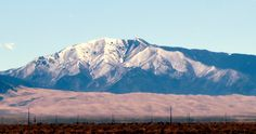 The Great Sand Dunes National Park--sand dunes lying 750 high in front of the Sangre de Cristo Mountain range