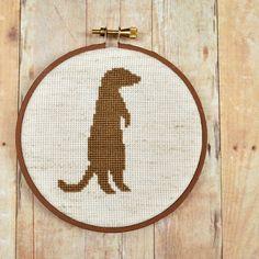 ... meerkat silhouette cross stitch