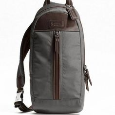 COS - Leather-Trimmed Canvas Backpack | Ballantine's Bags ...
