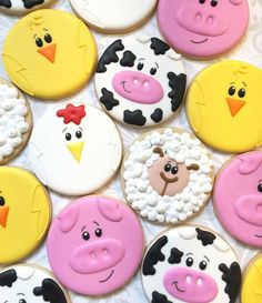 These little barnyard animals were totally inspired by Farm Cookies, Cookies For Kids, Easter Cookies, Birthday Cookies, Sugar Cookie Royal Icing, Cookie Frosting, Sugar Cookies, Cookies Et Biscuits, Rosalie