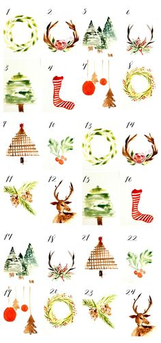 If you like doing a fun Christmas Countdown, be sure to grab these cute watercolor cards and use them for a fun countdown!
