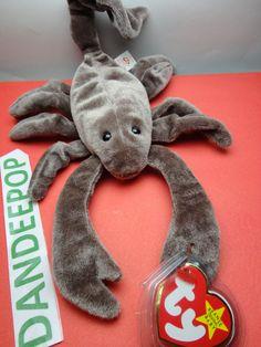 "TY Beanie Babie 1998 Stinger Scorpion Stuffed animal toy Original w/ tags 12"" find me at www.dandeepop.com"